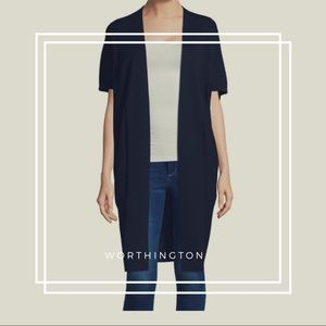 Worthington • Short Sleeve Cocoon Cardigan